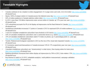 Twitter Highlights - Rapport comScore